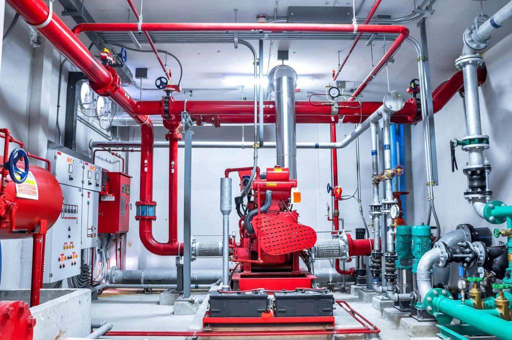 pompaggio impianto antincendio fiumicino